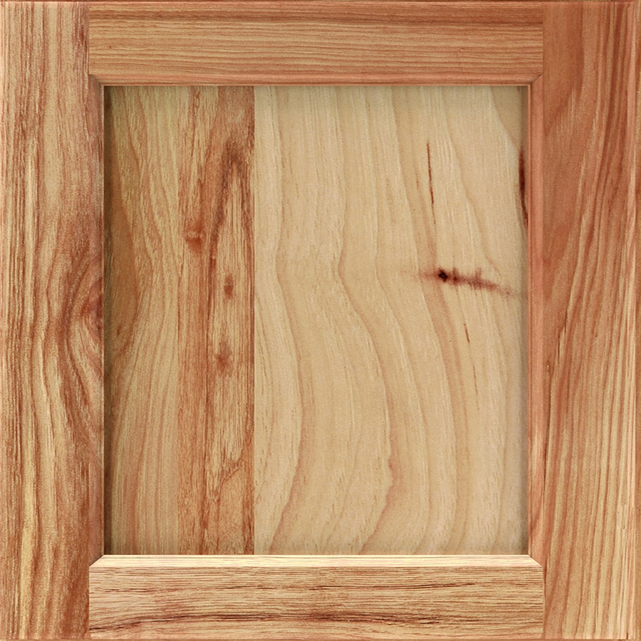 Diamond Karwin 14.75-in x 14.75-in Natural Stained Hickory Square Cabinet Sample
