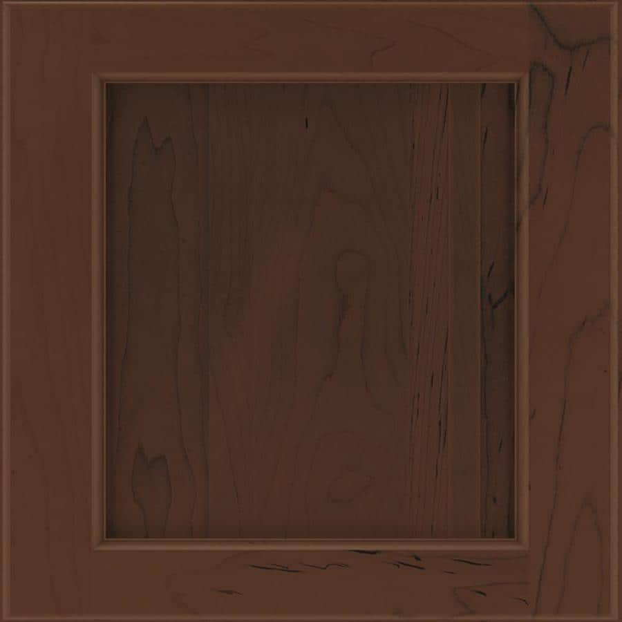 Diamond Karwin 14.75-in x 14.75-in Chocolate Stained Maple Square Cabinet Sample