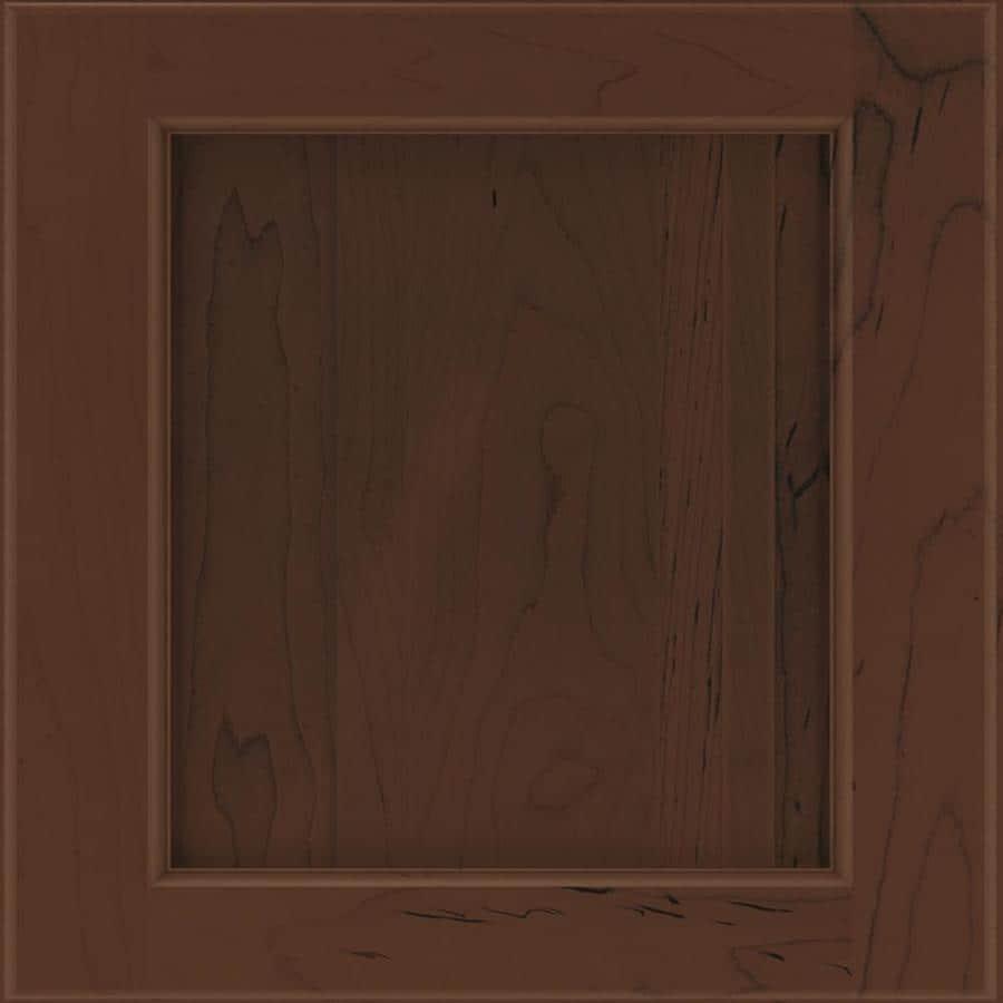 Diamond Karwin 14.75-in x 14.75-in Chocolate Maple Square Cabinet Sample