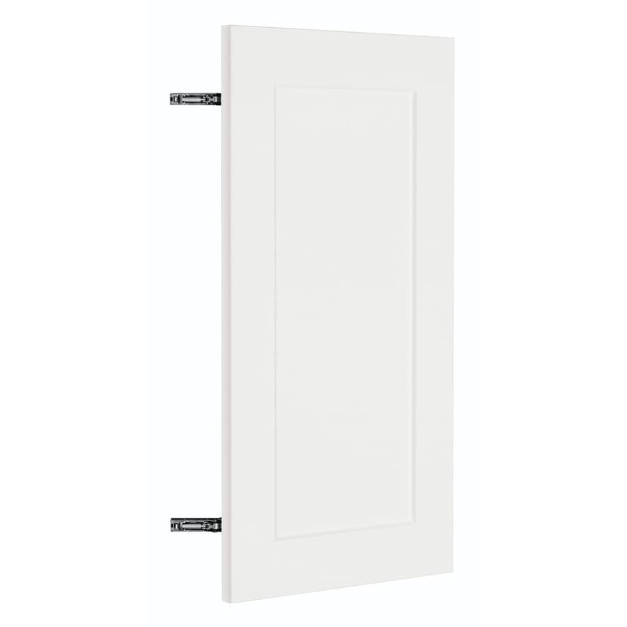 Nimble by Diamond Vanilla Shake 16-in W x 29.906-in H x 0.75-in D White Shaker Corner Wall Cabinet