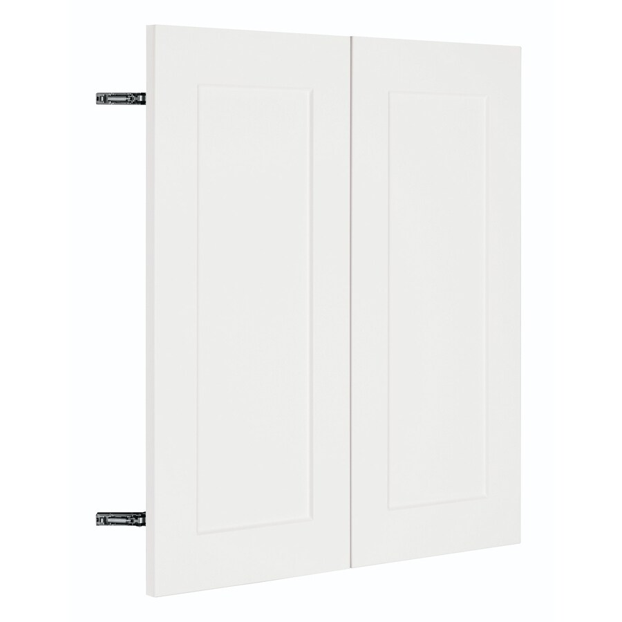 Nimble by Diamond Vanilla Shake 29.875-in W x 29.906-in H x 0.75-in D White Shaker Door Wall Cabinet