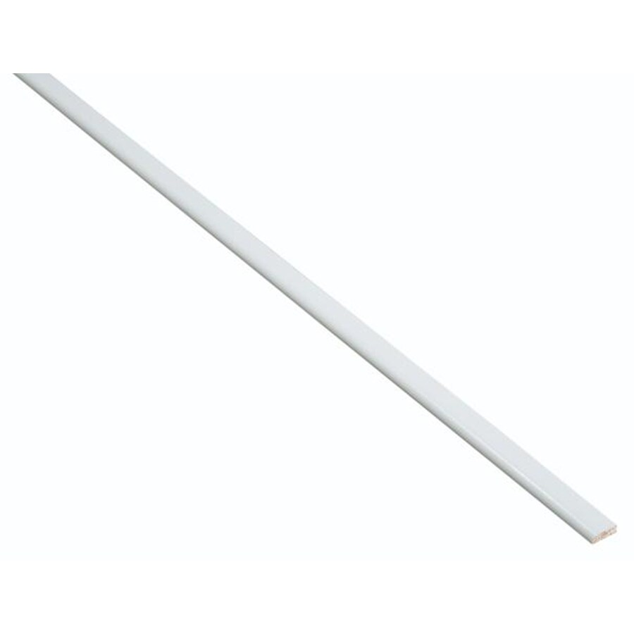 Nimble by Diamond Vanilla Shake 96-in W x 0.75-in H x 0.25-in D White Cabinet Scribe Rail