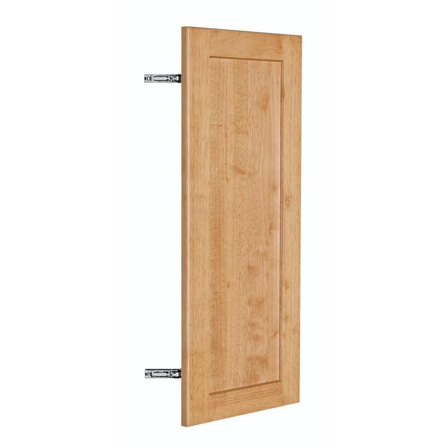 Nimble by Diamond Copper Pot 11.875-in W x 29.906-in H x 0.75-in D Honey Shaker Door Wall Cabinet
