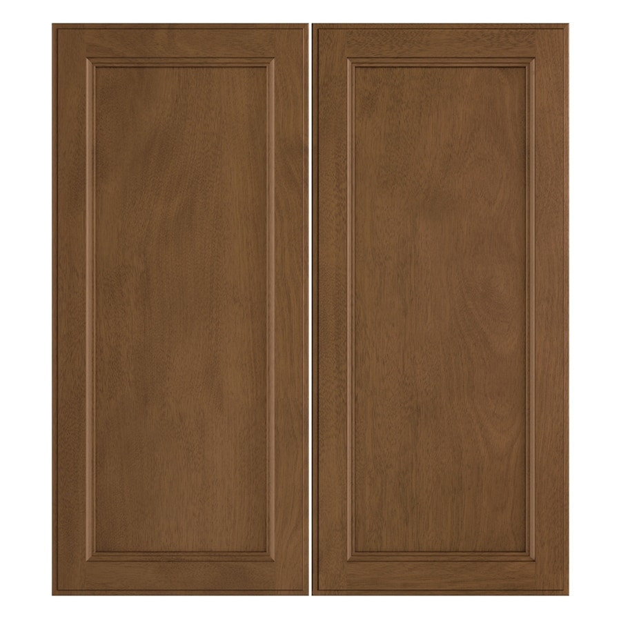 Nimble by Diamond Mocha Swirl 13.375-in W x 29.9062-in H x 0.75-in D Mocha Door Wall Cabinet