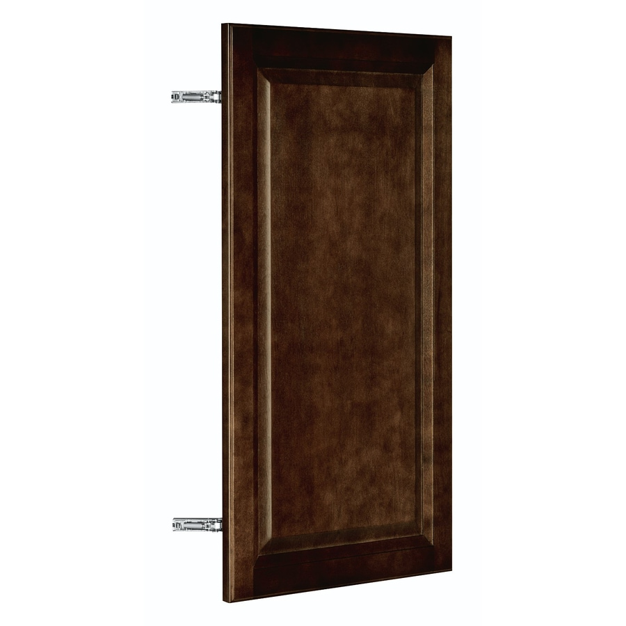 Nimble by Diamond Balsamic Barrel 16-in W x 29.906-in H x 0.75-in D Umber Birch Corner Wall Cabinet