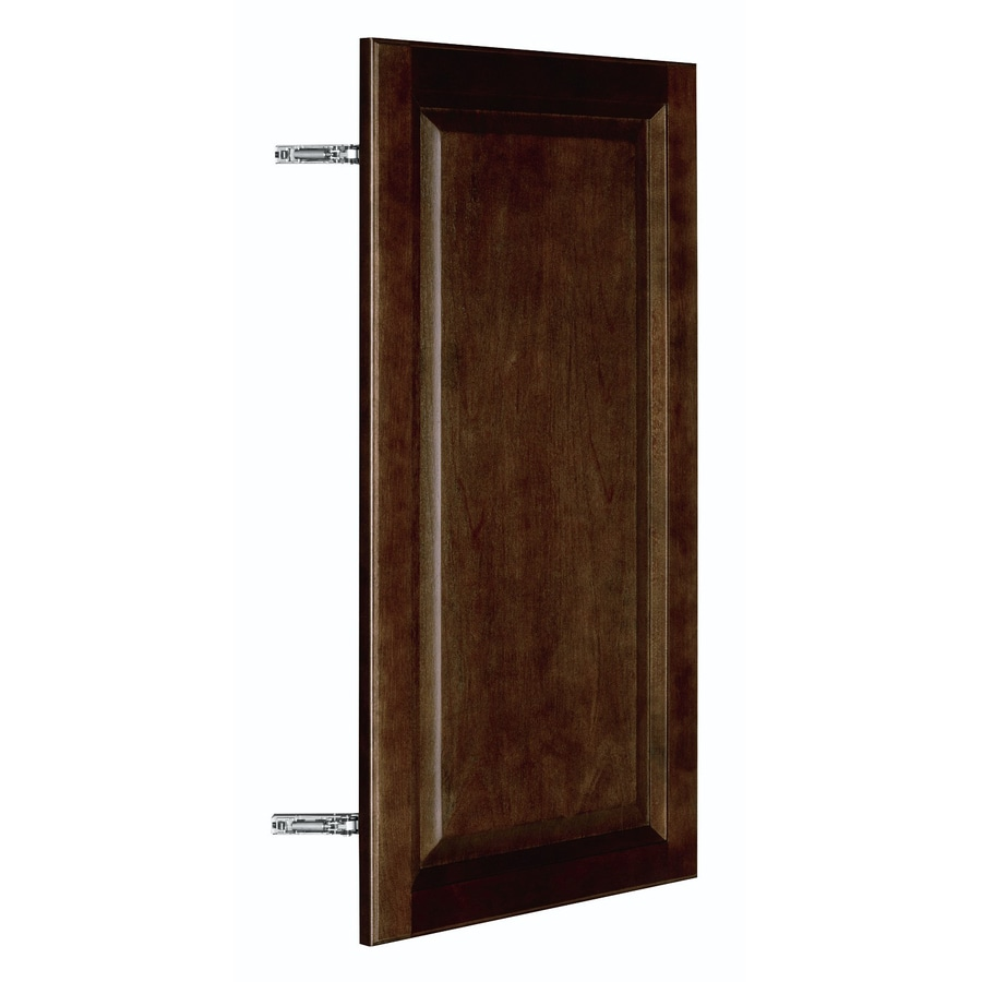 Nimble by Diamond Balsamic Barrel 14.875-in W x 29.906-in H x 0.75-in D Umber Birch Door Wall Cabinet
