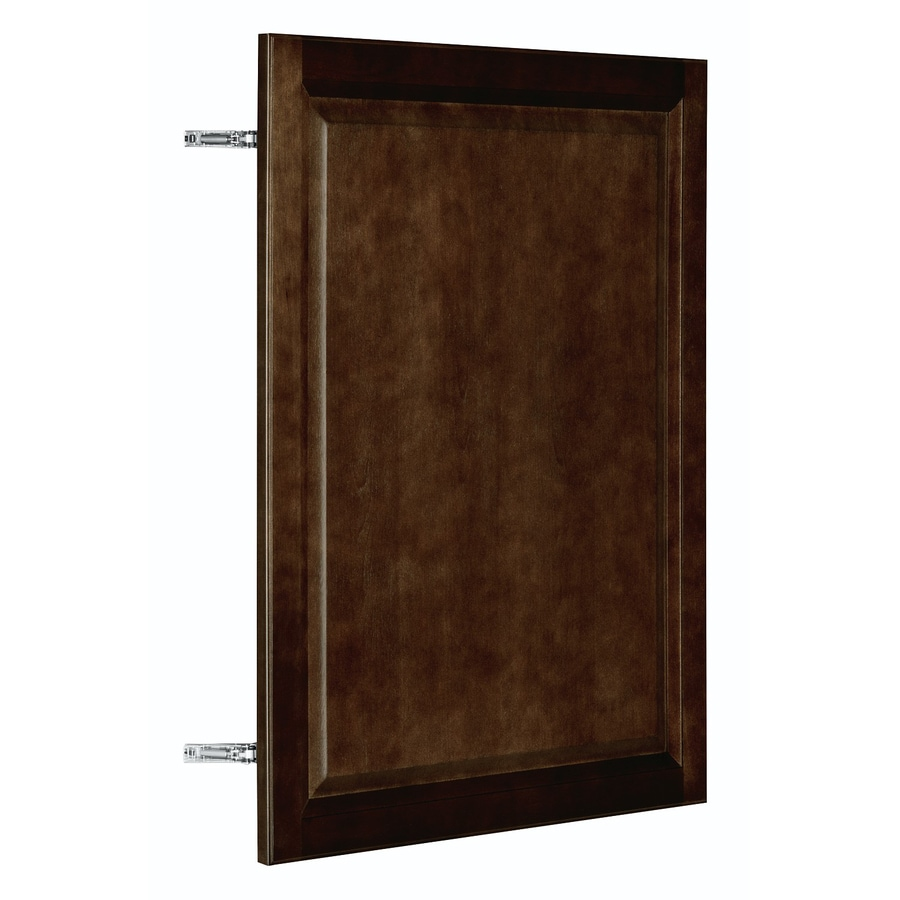 Nimble by Diamond Balsamic Barrel 23.875-in W x 29.906-in H x 0.75-in D Umber Birch Door Wall Cabinet