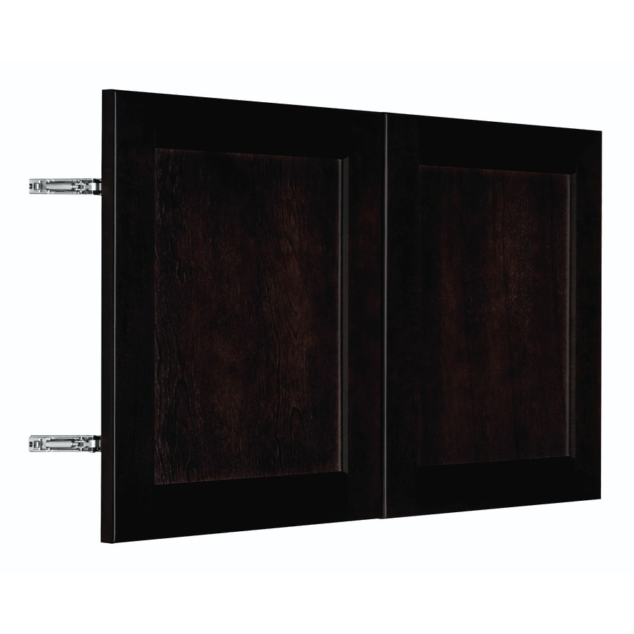 Nimble by Diamond Brownstone Beat 29.875-in W x 17.9062-in H x 0.75-in D Chocolate Birch Shaker Door Wall Cabinet