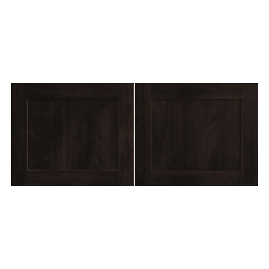 Nimble by Diamond Brownstone Beat 16.375-in W x 13.9062-in H x 0.75-in D Chocolate Shaker Door Wall Cabinet