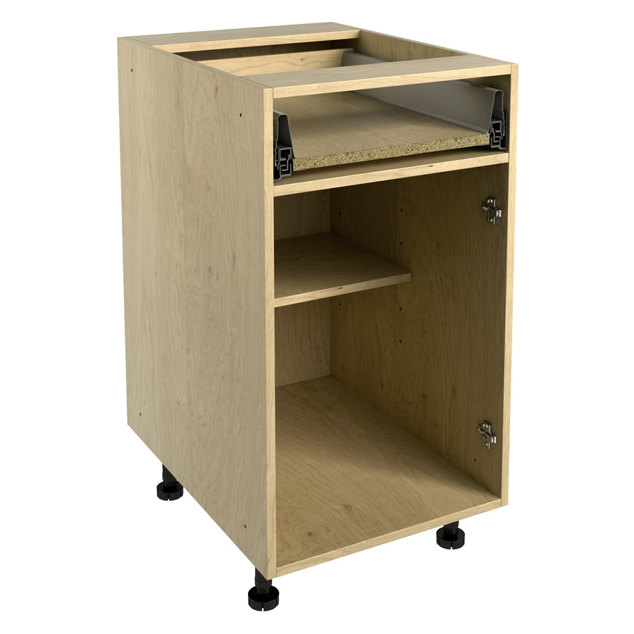 Nimble by Diamond 18-in W x 30-in H x 24-in D Prefinished Natural Maple Door and Drawer Base Cabinet