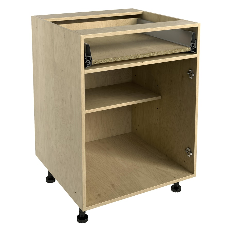Nimble by Diamond 24-in W x 30-in H x 24-in D Prefinished Natural Maple Door and Drawer Base Cabinet