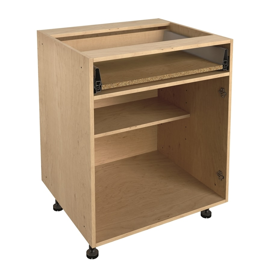 Shop Nimble By Diamond 27 In W X 30 In H X 24 In D Prefinished Natural Maple Door And Drawer