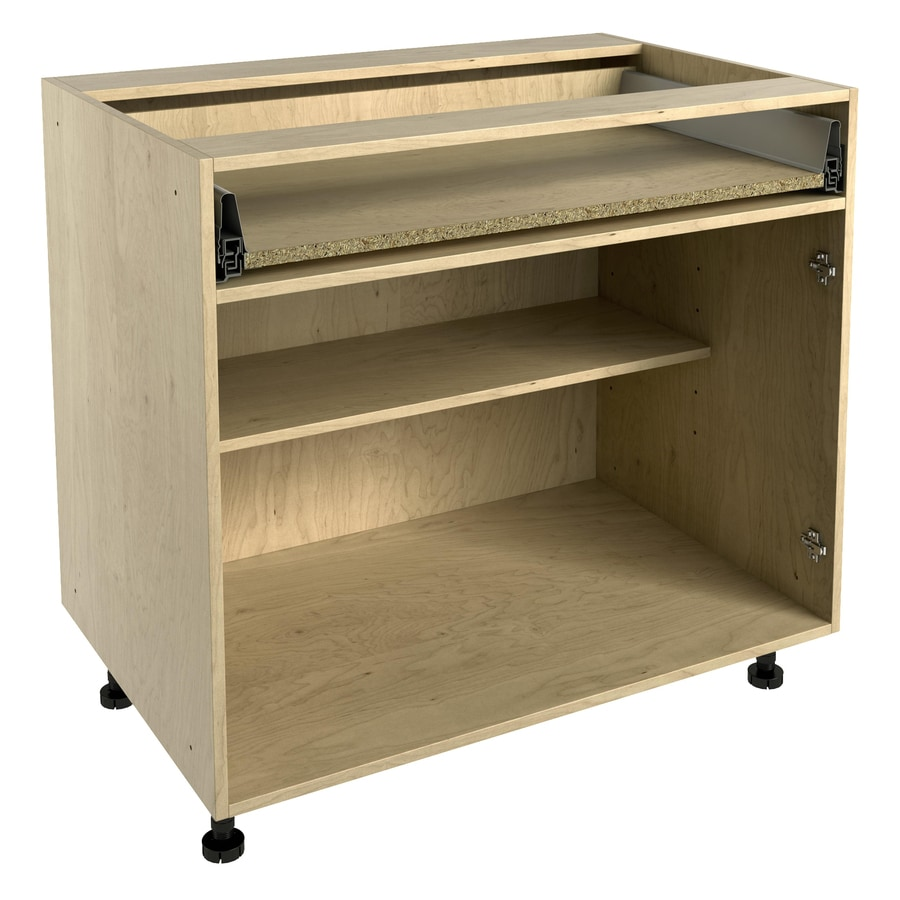 Nimble by Diamond 36-in W x 30-in H x 24-in D Prefinished Natural Maple Door and Drawer Base Cabinet