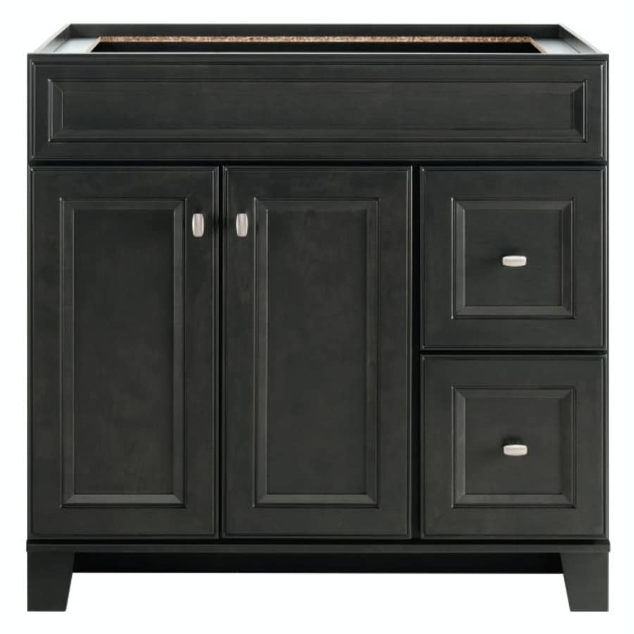 Lowes Bathroom Vanities Shop Diamond Freshfit Goslin Storm Bathroom Vanity Common 36In