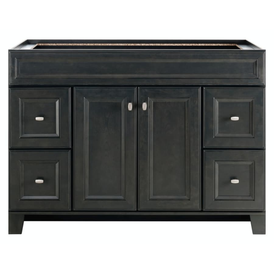 Shop Diamond FreshFit Goslin Freestanding Storm Bathroom Vanity - Lowes 48 bathroom vanity