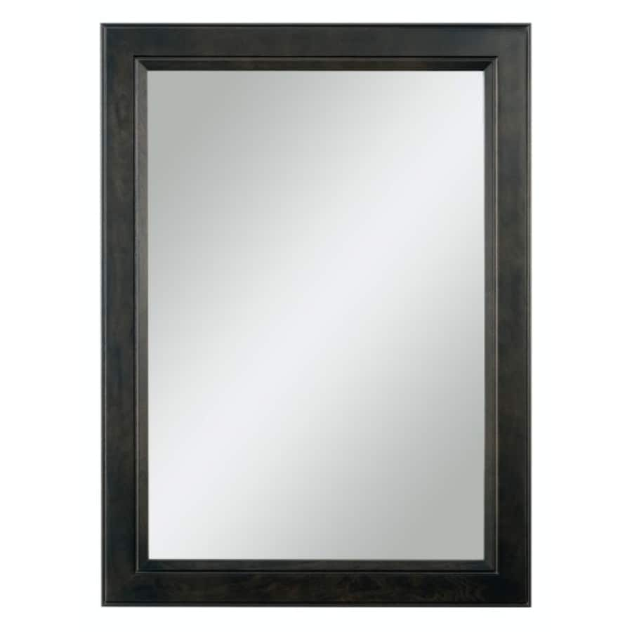 Bathroom mirror black frame - Diamond Freshfit Goslin 25 In X 34 In Storm Rectangular Framed Bathroom Mirror