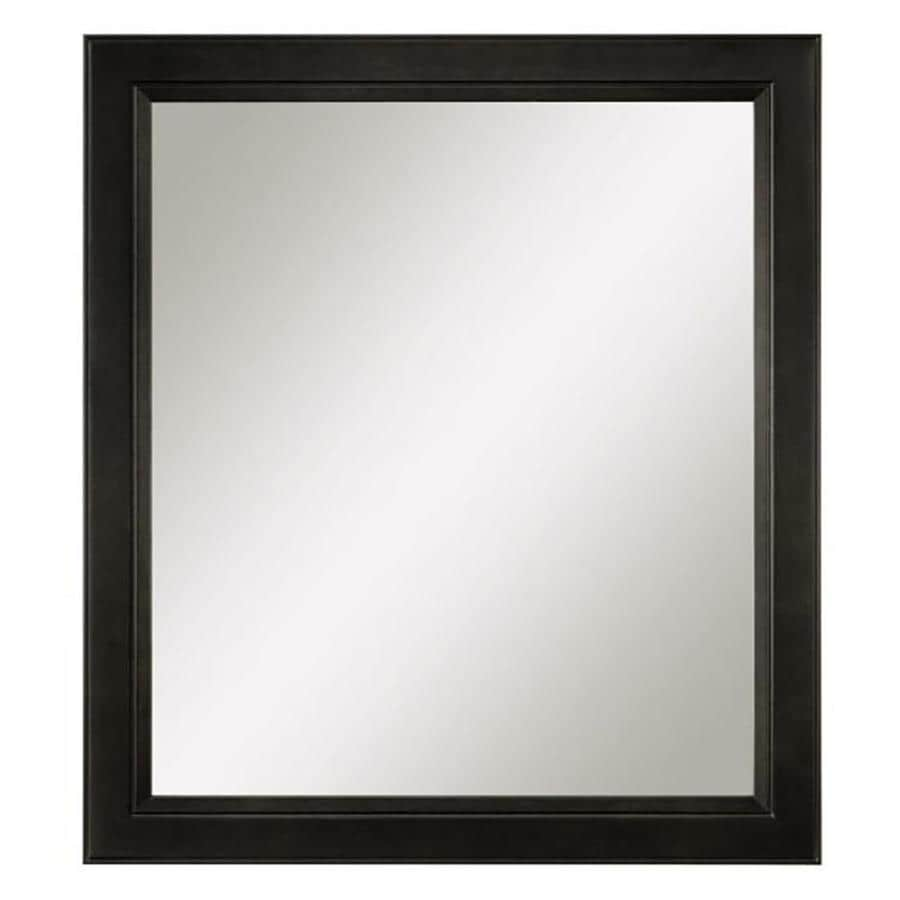 Diamond FreshFit Goslin 30-in x 34-in Storm Rectangular Framed Bathroom Mirror