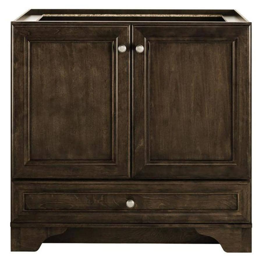 Shop diamond freshfit webster mink espresso bathroom for Bathroom cabinets 36