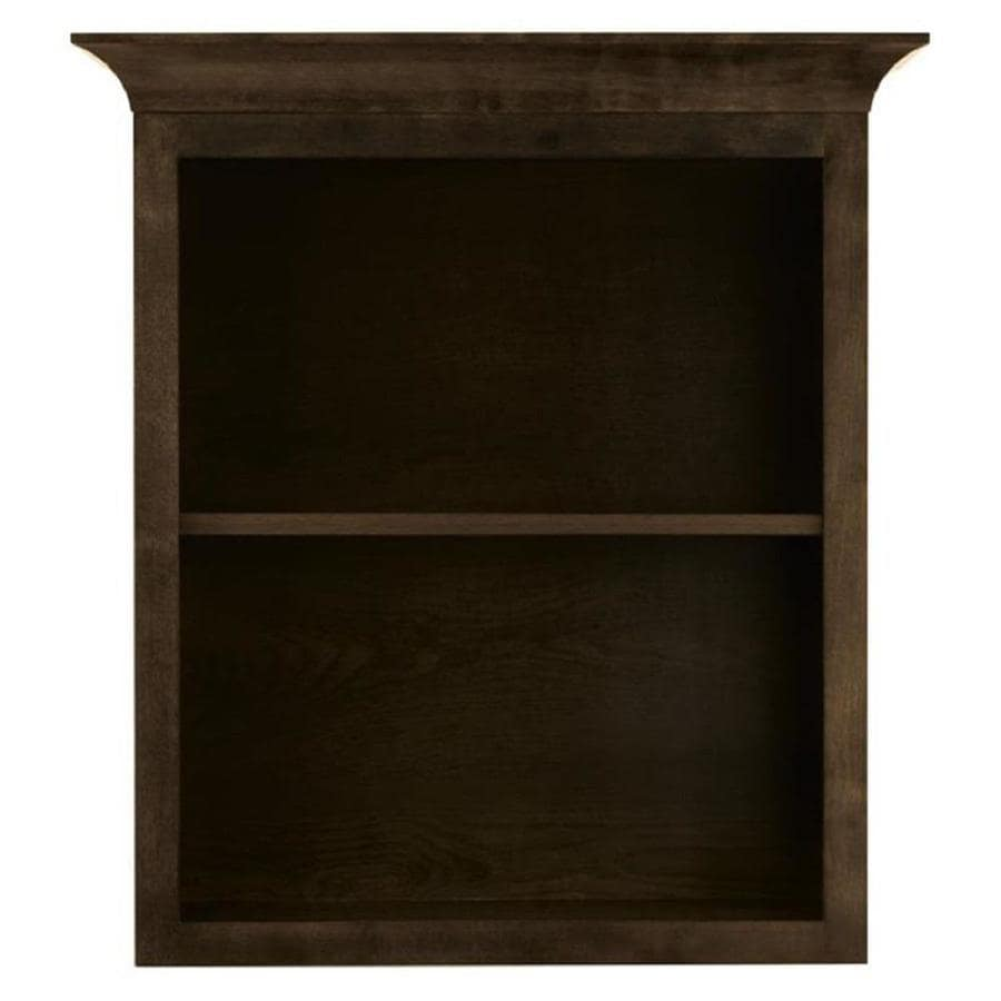 Diamond FreshFit Webster 28.8-in W x 31.5-in H x 9.4-in D Mink Espresso Bathroom Wall Cabinet