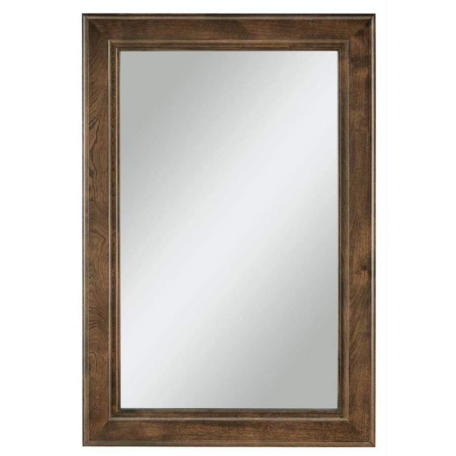Shop Diamond Freshfit Webster 25 In X 34 In Mink Espresso Rectangular Framed Bathroom Mirror At