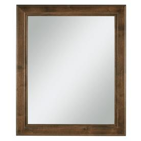 Diamond Freshfit Webster 30 In X 34 In Mink Espresso Rectangular Framed Bathroom Mirror