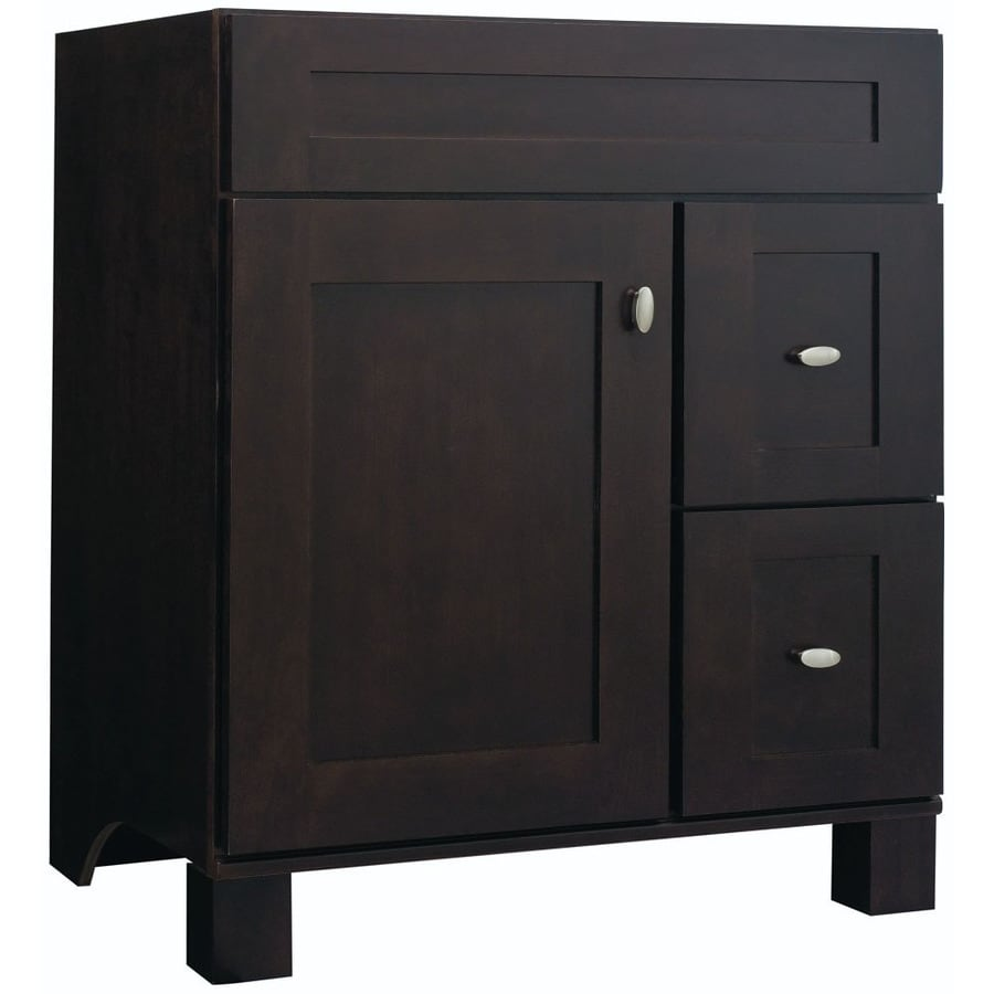 30 Bathroom Vanity Drawers shop diamond freshfit palencia espresso bathroom vanity (common