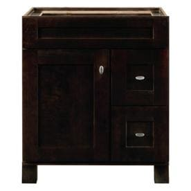 Shop diamond freshfit palencia 30 in espresso bathroom vanity cabinet at for Diamond freshfit palencia white bathroom vanity