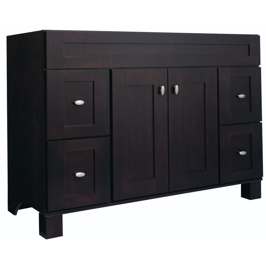 Shop Diamond FreshFit Palencia Espresso Bathroom Vanity Common - Lowes 48 bathroom vanity