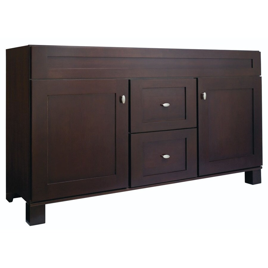 Diamond FreshFit Palencia Espresso Bathroom Vanity (Common: 60-in x 21-in; Actual: 60-in x 21-in)