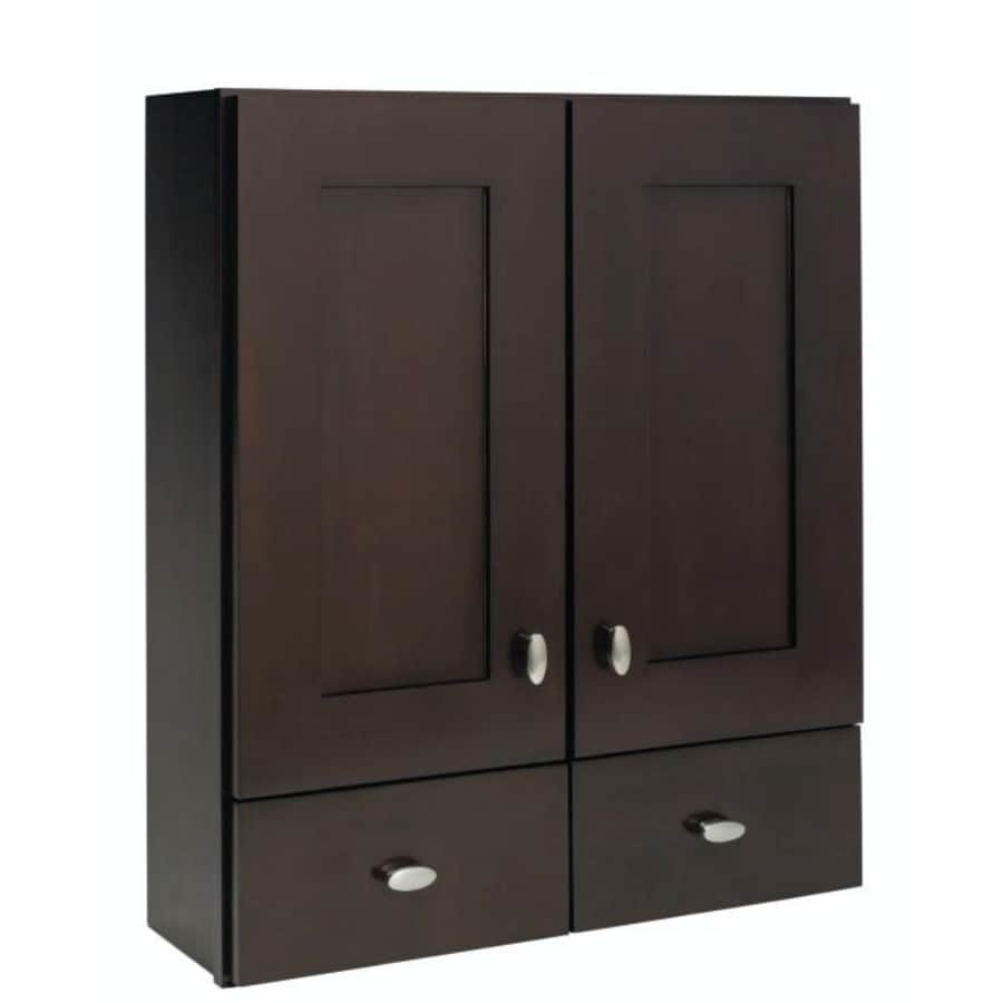 Shop Diamond Freshfit Palencia 28 1 In W X 31 In H X 9 1 In D Espresso Bathroom Wall Cabinet At