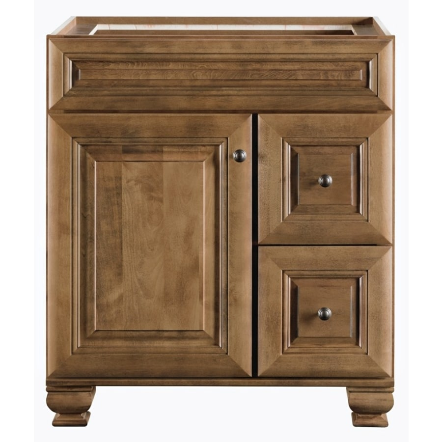 Beau Diamond FreshFit Ballantyne Freestanding Mocha With Ebony Glaze Bathroom  Vanity (Common: 30 In
