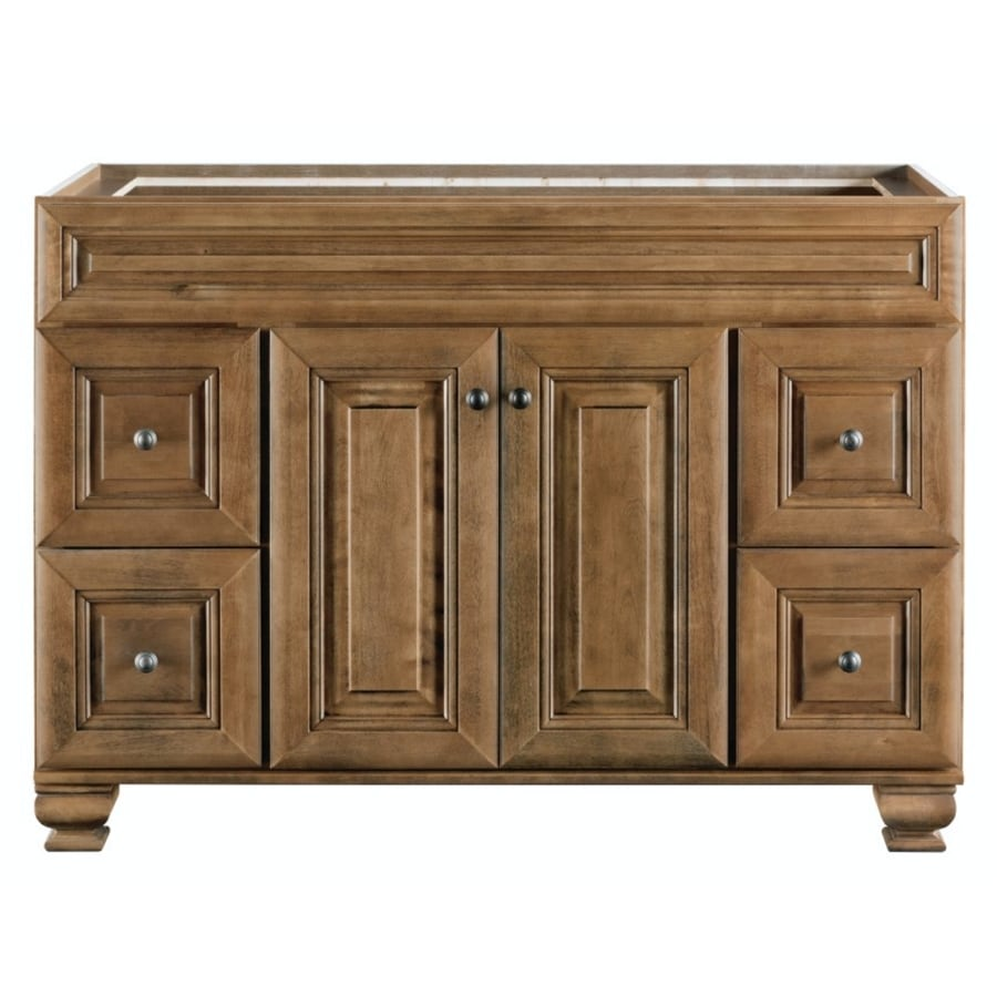 Beau Diamond FreshFit Ballantyne 48 In Mocha With Ebony Glaze Bathroom Vanity  Cabinet