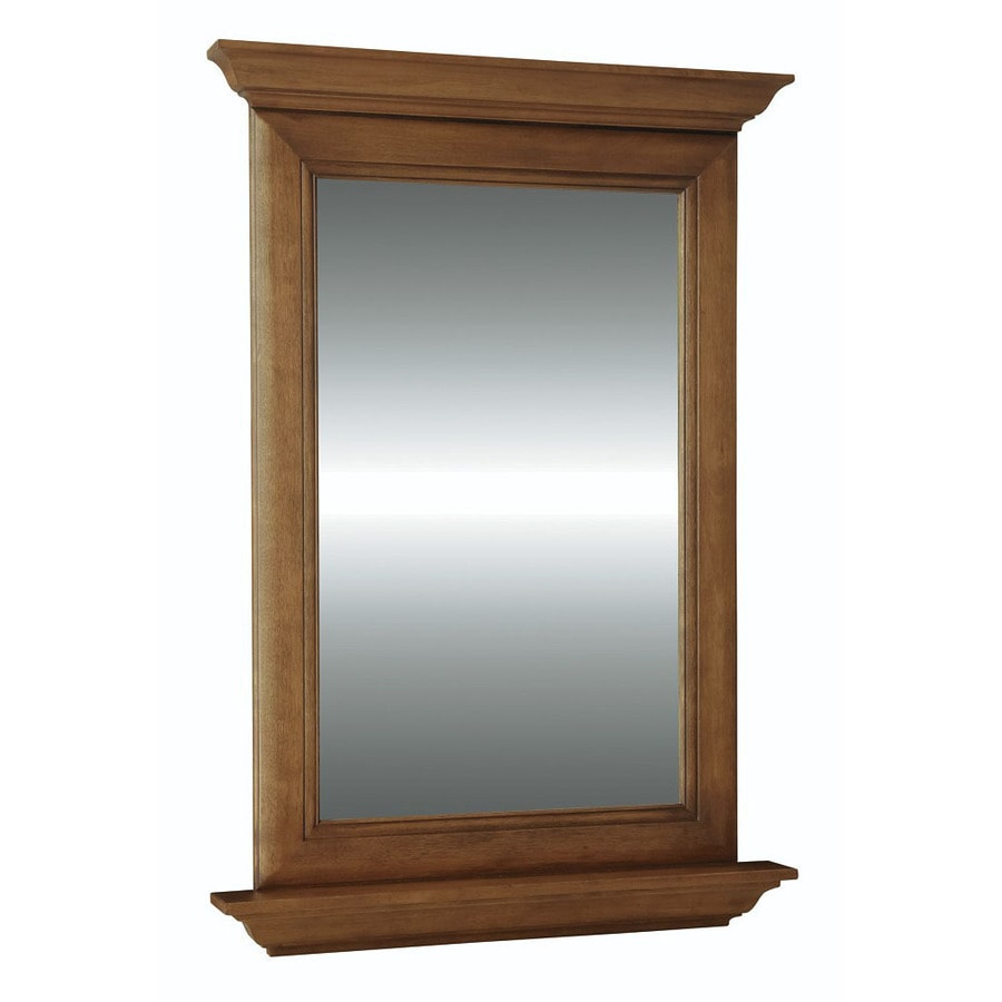 Diamond FreshFit Ballantyne 25-in Mocha with Ebony Glaze Rectangular Bathroom Mirror