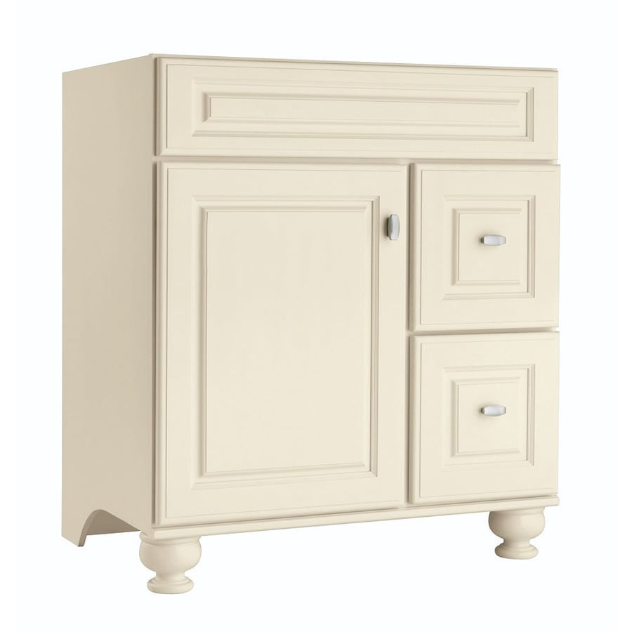 30 x 18 bathroom vanity lowes allen roth diamond freshfit britwell cream bathroom vanity common 30in 21in 21
