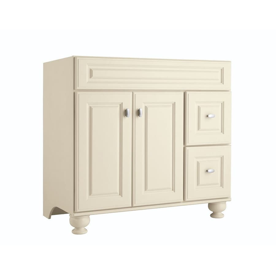 Bathroom Vanities On Sale At Lowes shop diamond freshfit britwell cream bathroom vanity (common: 36