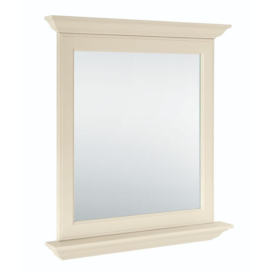 Diamond Freshfit Britwell 30 In Cream Rectangular Bathroom Mirror