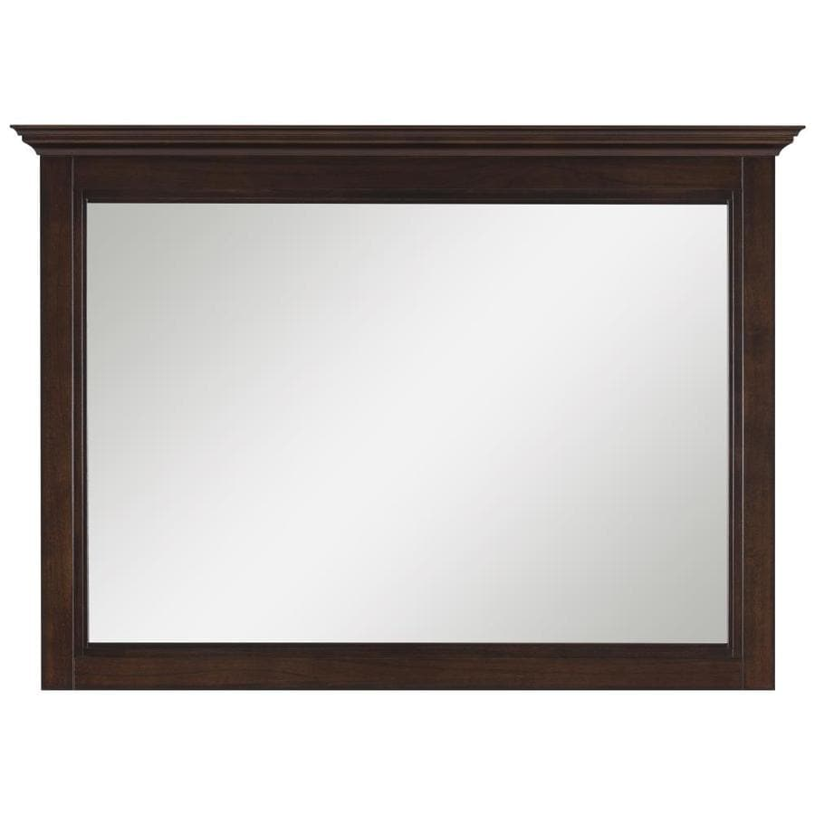 allen + roth Eastcott 42-in W x 30-in H Auburn Rectangular Bathroom Mirror