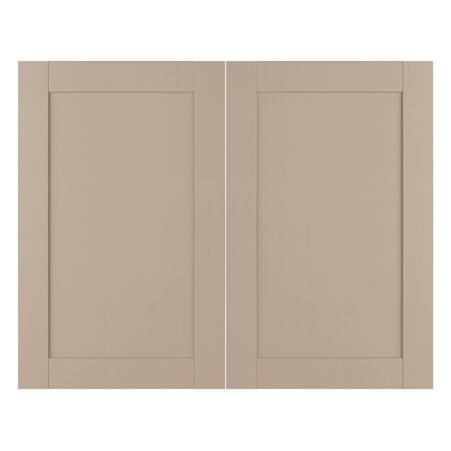 Nimble by Diamond Sea Salt 14.875-in W x 23.9062-in H x 0.625-in D Cloud Laminate Shaker Door Wall Cabinet