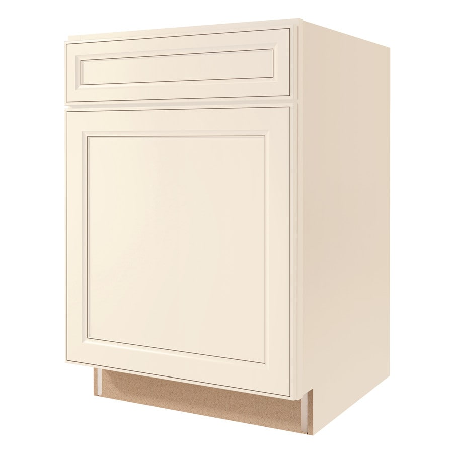 Diamond NOW Caspian 21-in W x 35-in H x 23.75-in D TrueColor Toasted Antique Door and Drawer Base Cabinet