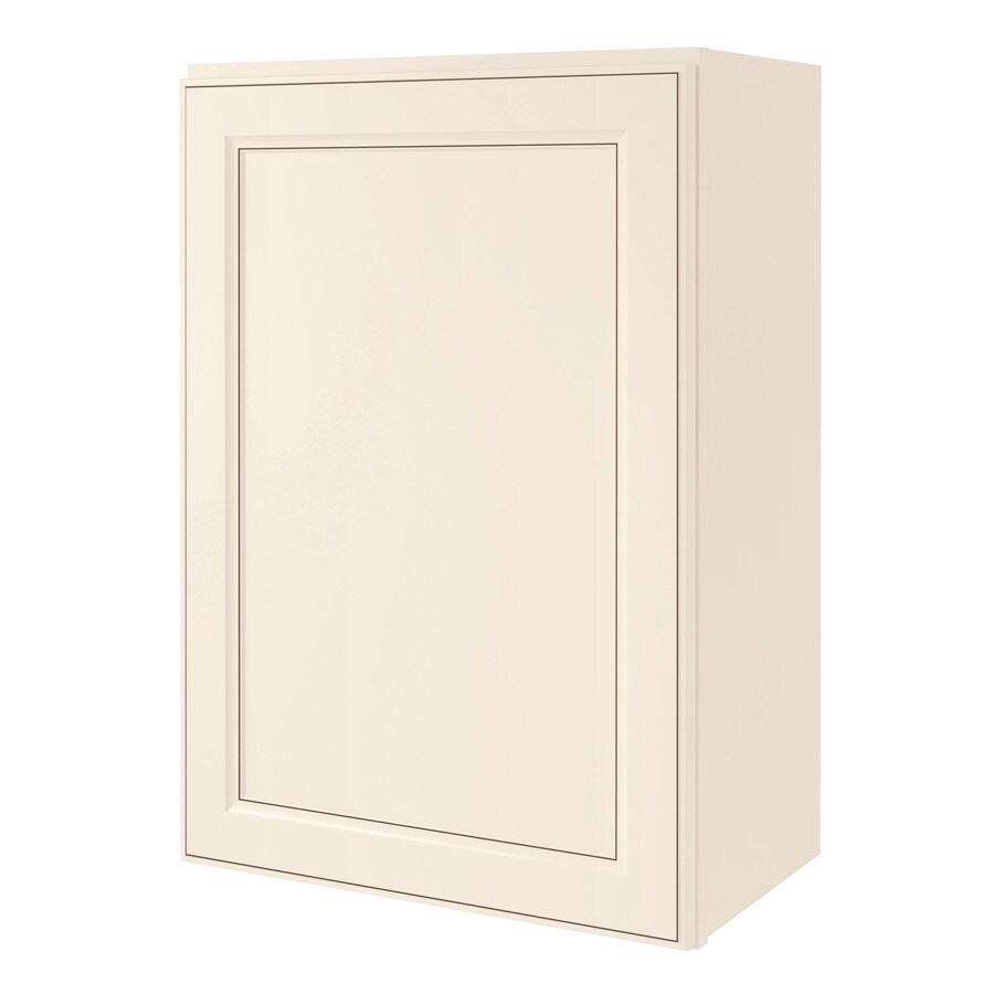 Diamond NOW Caspian 21-in W x 30-in H x 12-in D Laminate Toasted Antique Engineered Wood Door Wall Cabinet