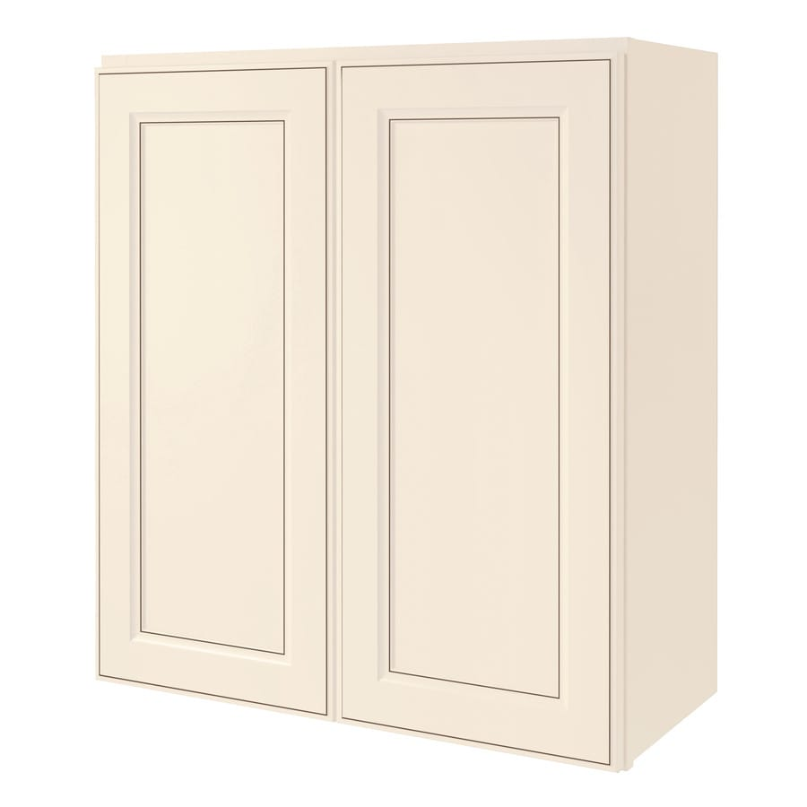 Kitchen Classics Caspian 27-in W x 30-in H x 12-in D Laminate Toasted Antique Engineered Wood Door Wall Cabinet
