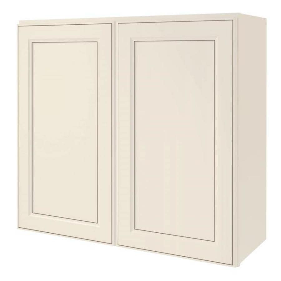 Diamond NOW Caspian 33-in W x 30-in H x 12-in D TrueColor Toasted Antique Door Wall Cabinet