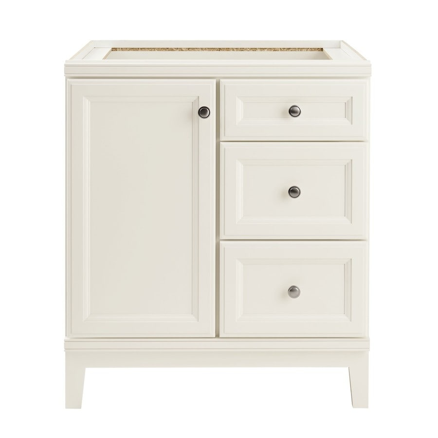 Shop Diamond FreshFit Calhoun White Bathroom Vanity (Common: 30-in ...
