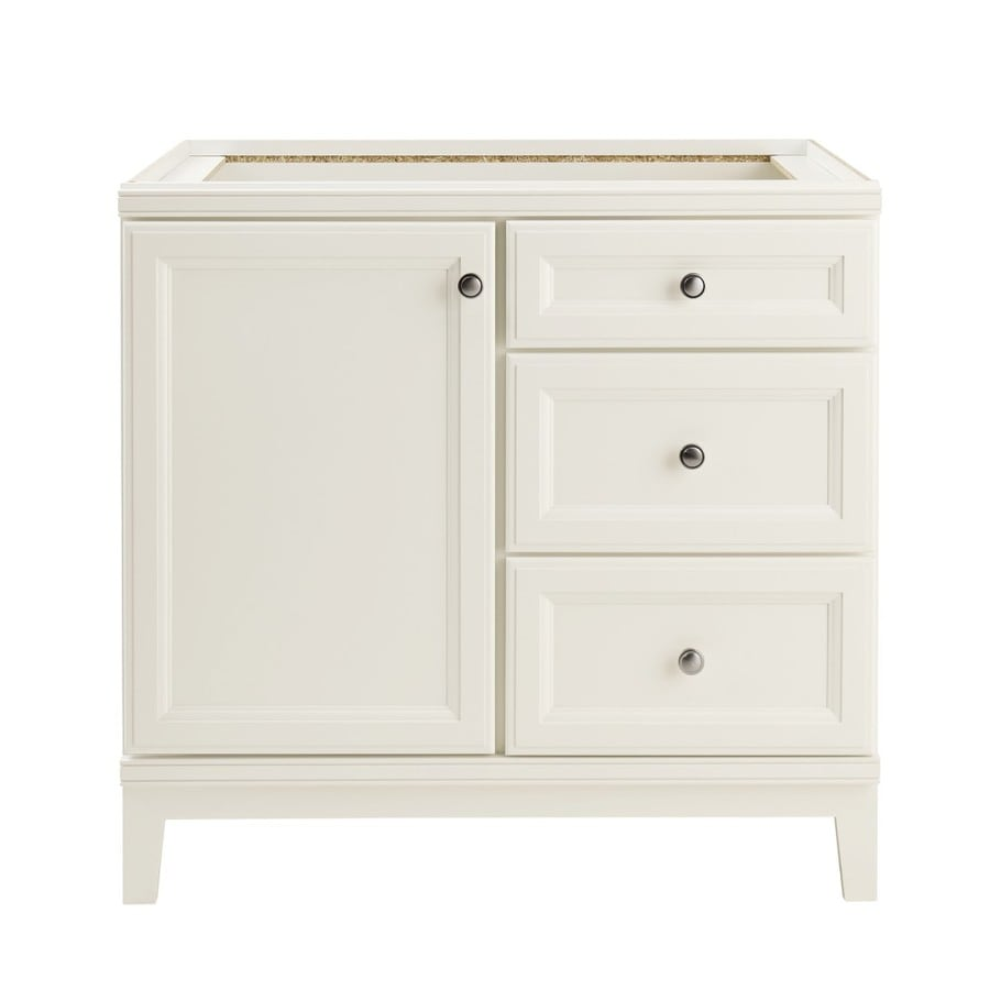 Shop diamond freshfit calhoun white bathroom vanity for Bathroom cabinets 36