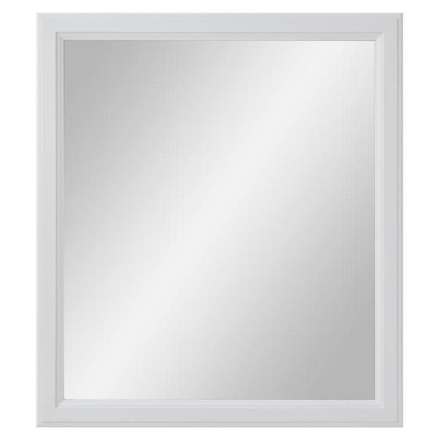 Diamond FreshFit Calhoun White Rectangular Bathroom Mirror