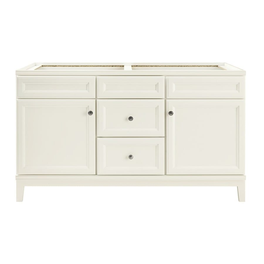 Shop diamond freshfit calhoun white bathroom vanity for Bath vanities with tops