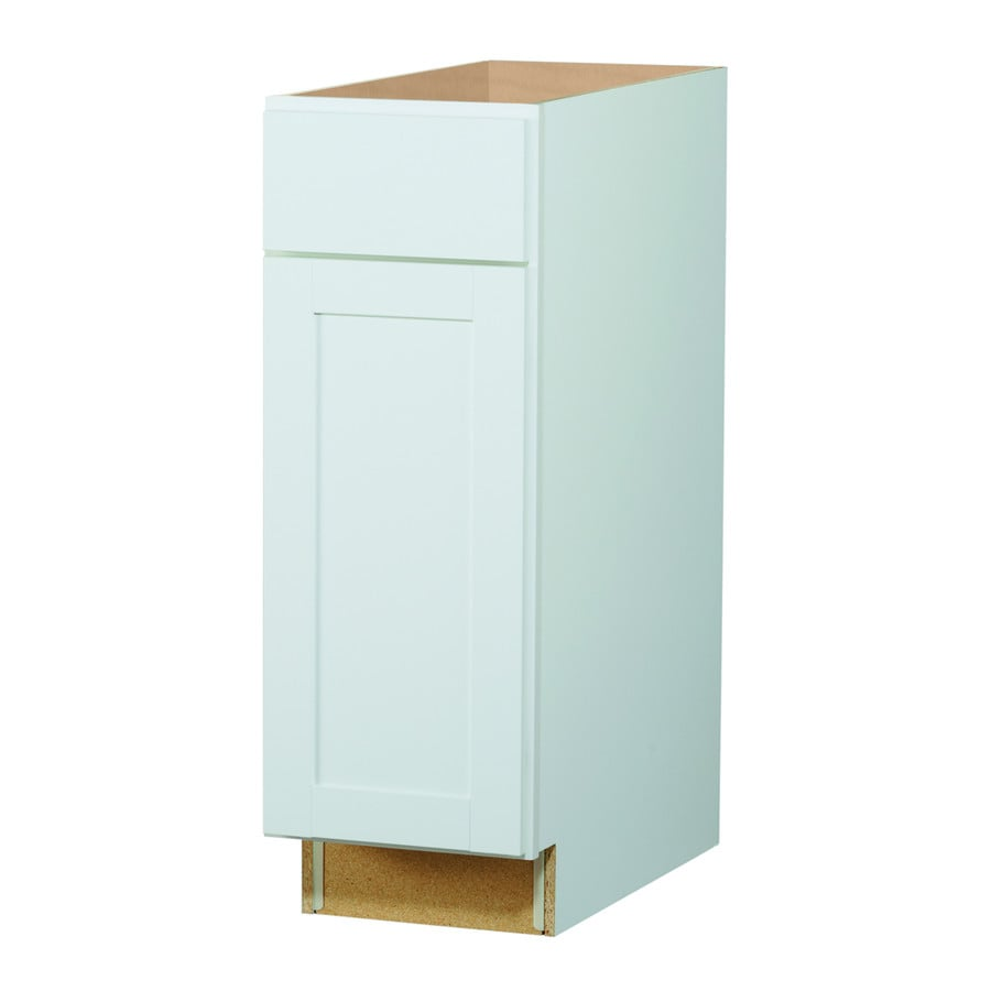 Diamond Now Arcadia 12 In W X 35 H 23 75 D Truecolor White Door And Drawer Base Cabinet