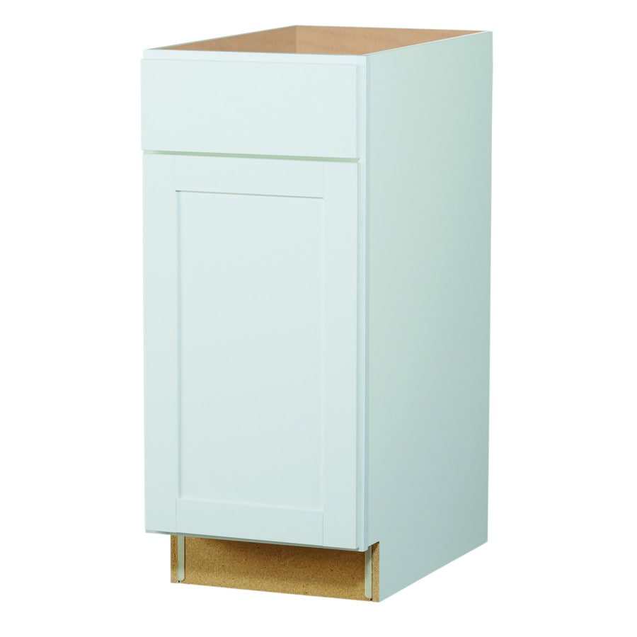 Diamond NOW Arcadia 18-in W x 35-in H x 23.75-in D White Shaker Door and Drawer Base Cabinet