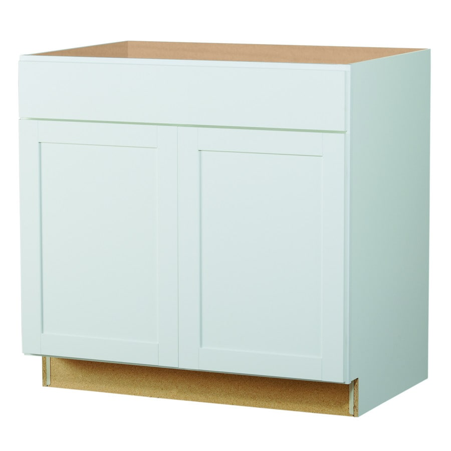 Shop diamond now arcadia 36 in w x 35 in h x d white shaker door and drawer base Kitchen cabinets 75 off