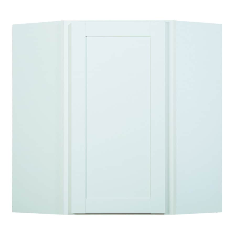 Diamond NOW Arcadia 24-in W x 30-in H x 12-in D White Shaker Corner Wall Cabinet